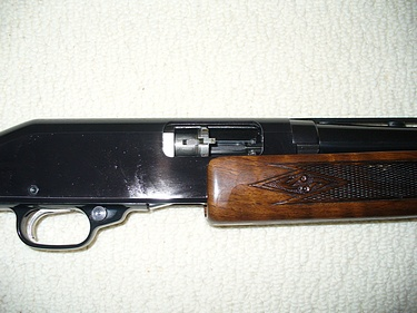 shotgun, action partially open