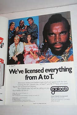 Galoob and the A-Team, Playthings Magazine, July 1983