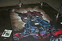 Optimus Prime chalk drawing