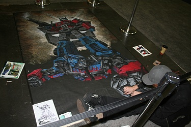 Optimus Prime Chalk Art