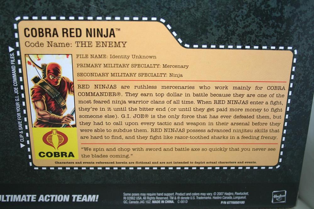 GI Joe: 25th Anniversary Snake Eyes vs  Red Ninja Troopers, Toys R