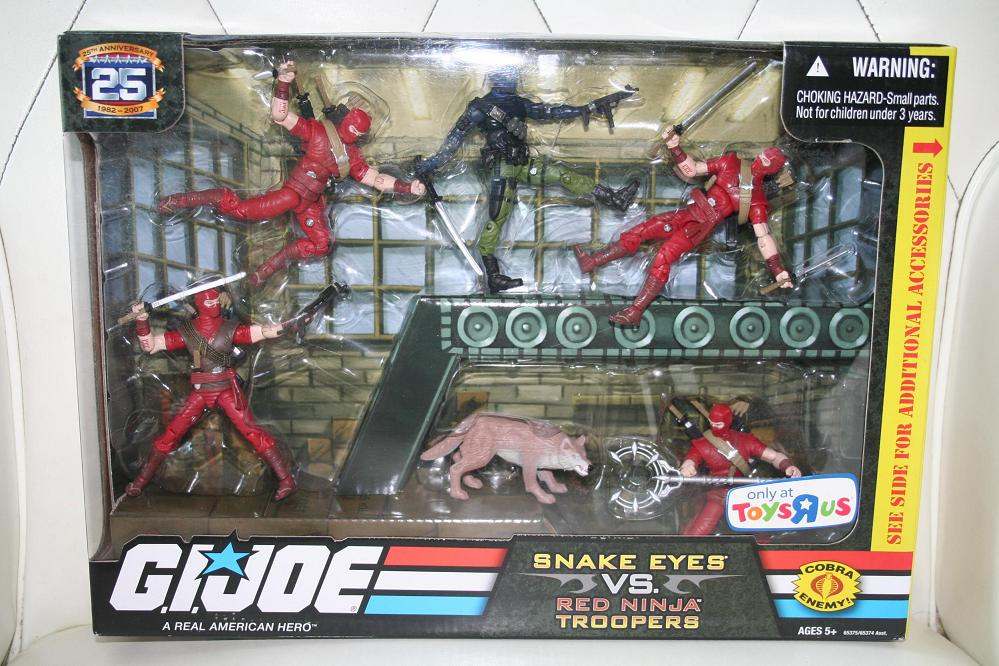Ninja Toys For Girls : Gi joe th anniversary snake eyes vs red ninja troopers
