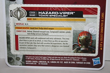 G.I. Joe: 30 for 30 - Hazard-Viper: Toxin Specialist