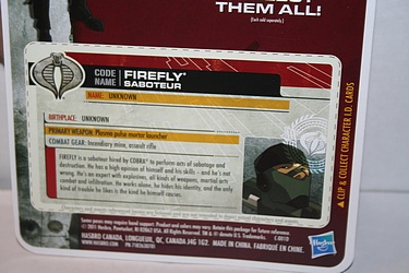 G.I. Joe: 30 for 30 - Firefly - Saboteur