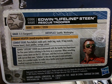 G.I. Joe: 30 for 30 - Edwin 'Lifeline' Steen: Rescue Trooper