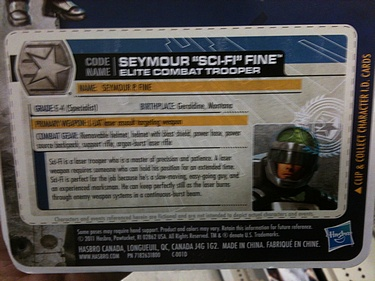 G.I. Joe: 30 for 30 - Seymour 'Sci-Fi' Fine: Elite Combat Trooper