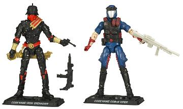 Hasbro - GI Joe Comic 2-Packs Wave 7, Iron Grenadier and Cobra Viper