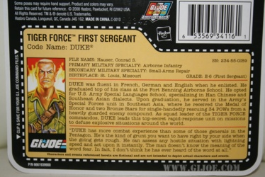 G.I. Joe Modern Era - Tiger Force Duke File Card