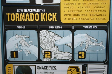 G.I. Joe - Pursuit of Cobra: Tornado Kick Snake Eyes