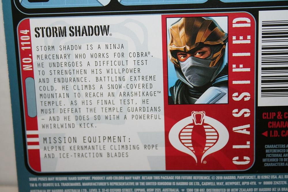G I  Joe: Pursuit of Cobra - Storm Shadow - Cobra Ninja - Parry Game