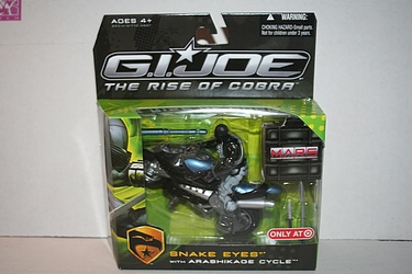 GI Joe Rise of Cobra - Snake Eyes with Arashikage Cycle