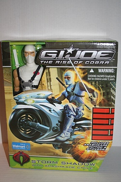 Walmart Exclusive Storm Shadow with Arashikage Cycle