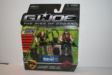 G.I. Joe - The Rise of Cobra: Walmart Exclusive Off-Screen 2-Pack - Tunnel Rat vs. Monkey Wrench