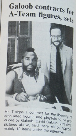 Mr. T Signs Contract with Galoob