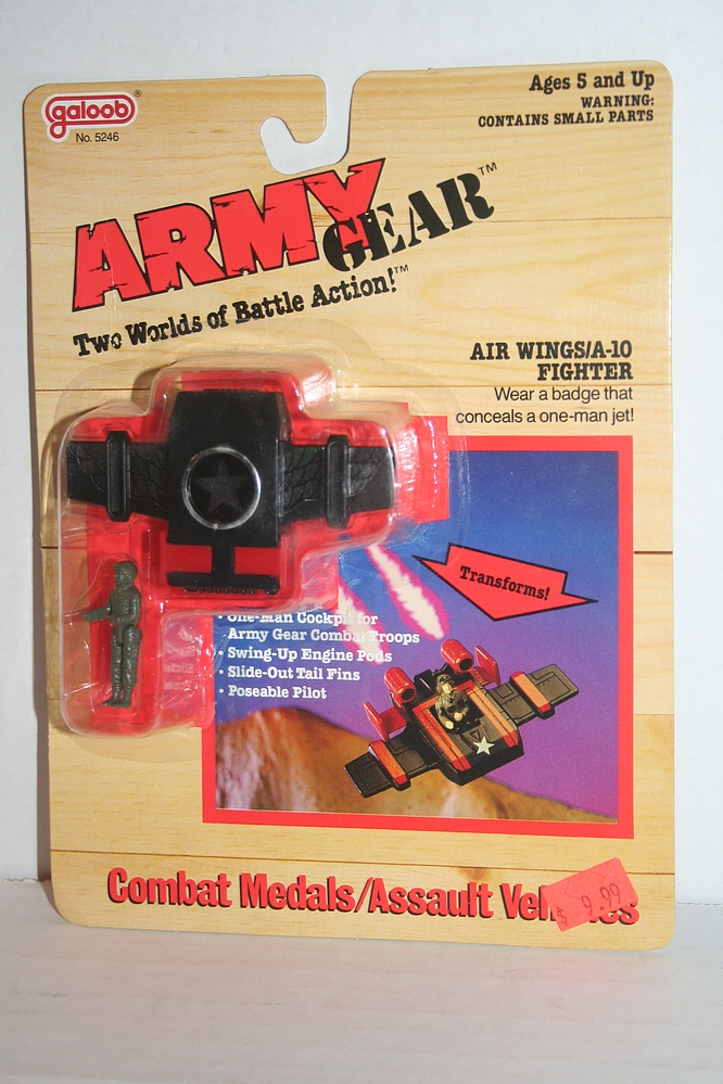 Gears Used In Toys : Galoob army gear air wings a fighter parry game