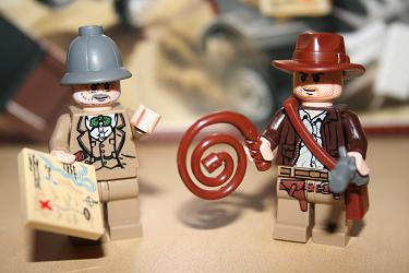 Indy and Dr. Jones Lego Figures