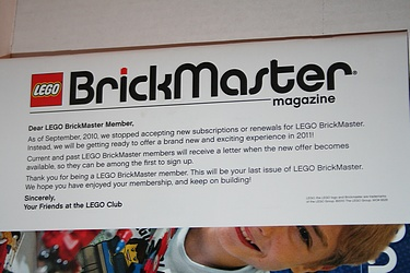 Lego Brickmaster - Final Set Letter