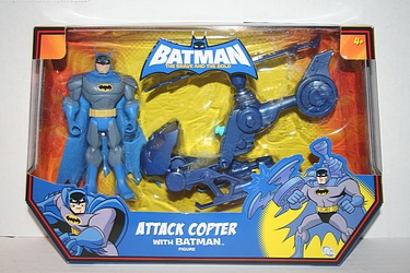 Batman: The Brave and the Bold - Attack Copter with Batman.