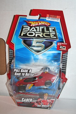 Battle Force 5 - Pull Back Racing Saber with Vert Wheeler