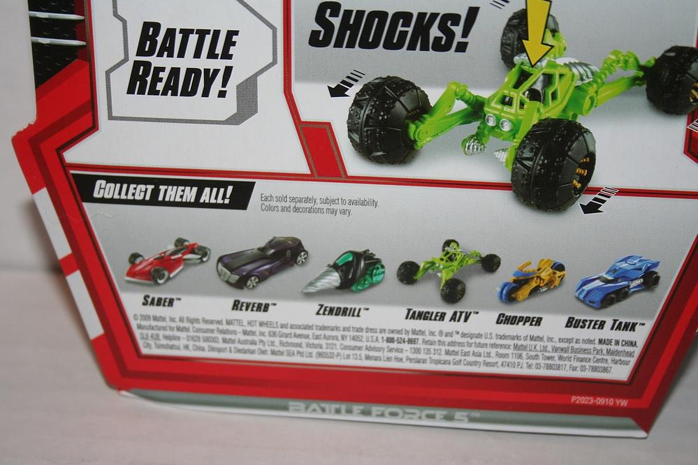 Mattel - Battle Force 5: Tangler ATV with Agura Ibaden ...