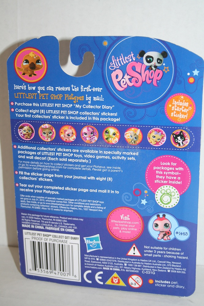 Littlest Pet Shop   #1423   Lady Bug With Collector Diary