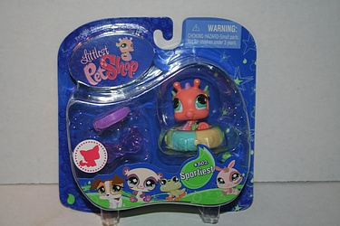 Littlest Pet Shop - #802- Seahorse with Innertube