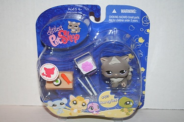 Littlest Pet Shop - #973 - Cat with Sushi