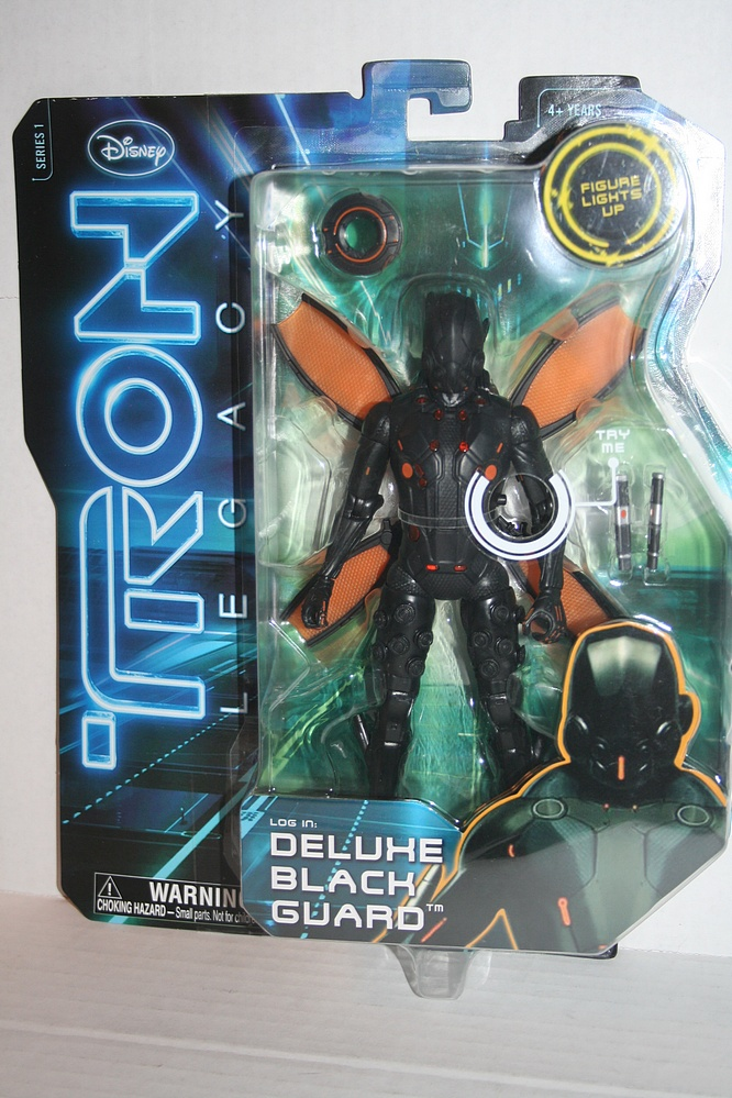 Spin Master Tron Legacy Deluxe Black Guard Parry Game