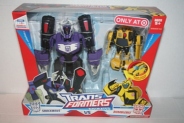 Transformers Animated - Target Exclusive Shockwave and Bumblebee