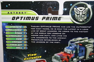 Transformers Dark of the Moon (2011) - Optimus Prime Preview Pack
