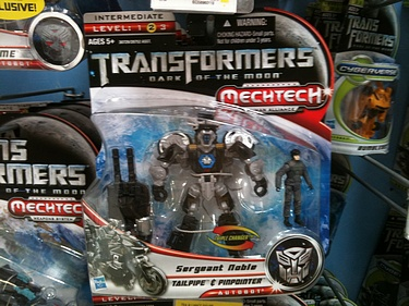 Transformers Dark of the Moon (2011) - Tailpipe & Pinpointer with Sergeant Noble