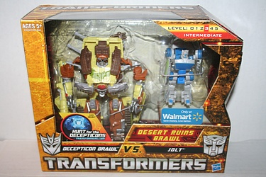 Transformers Hunt for the Decepticons - Brawl vs. Jolt