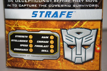 Transformers More Than Meets The Eye (2010) - Strafe Voyager Class
