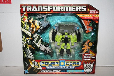 Transformers Power Core Combiners - Steamhammer and the Constructicons