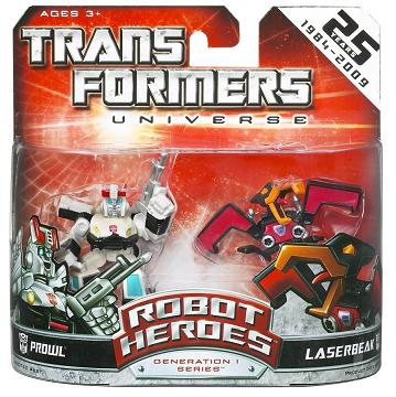 Transformers Robot Heroes - Prowl vs. Laserbeak