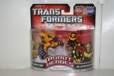 Transformers Robot Heroes - Blackarachnia vs. Cheetor