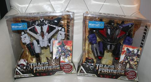 Skywarp and Ramjet WalMart Exclusives